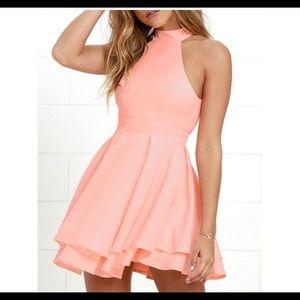 Lulu's Dresses - Peach Lulus dress